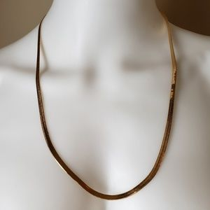 "Avon Herringbone Chain Necklace 24"" NIB"